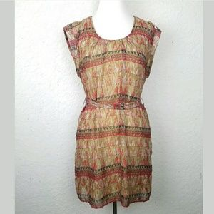 Forever 21 Women dress size M brown/red aztec prin